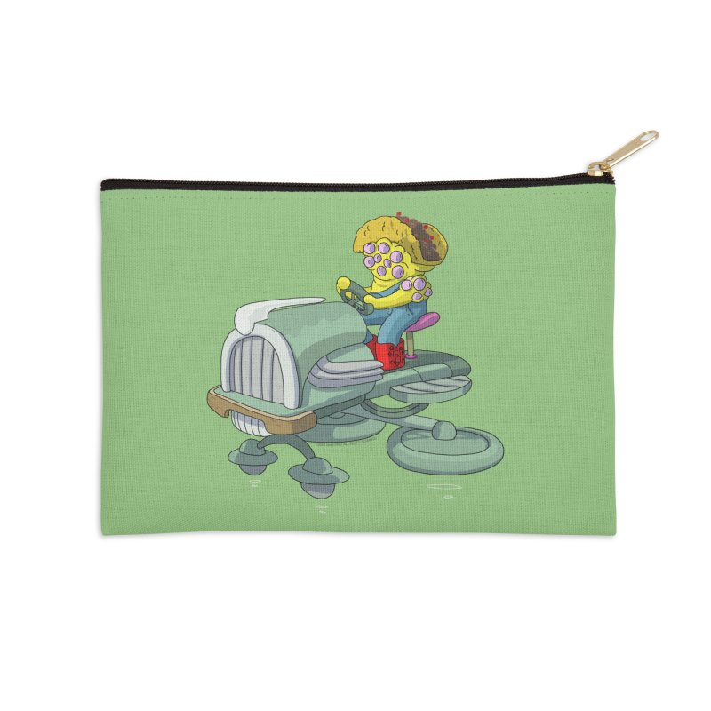 Queso Taco Tractor Man Accessories Zip Pouch by jasonmayart's Artist Shop