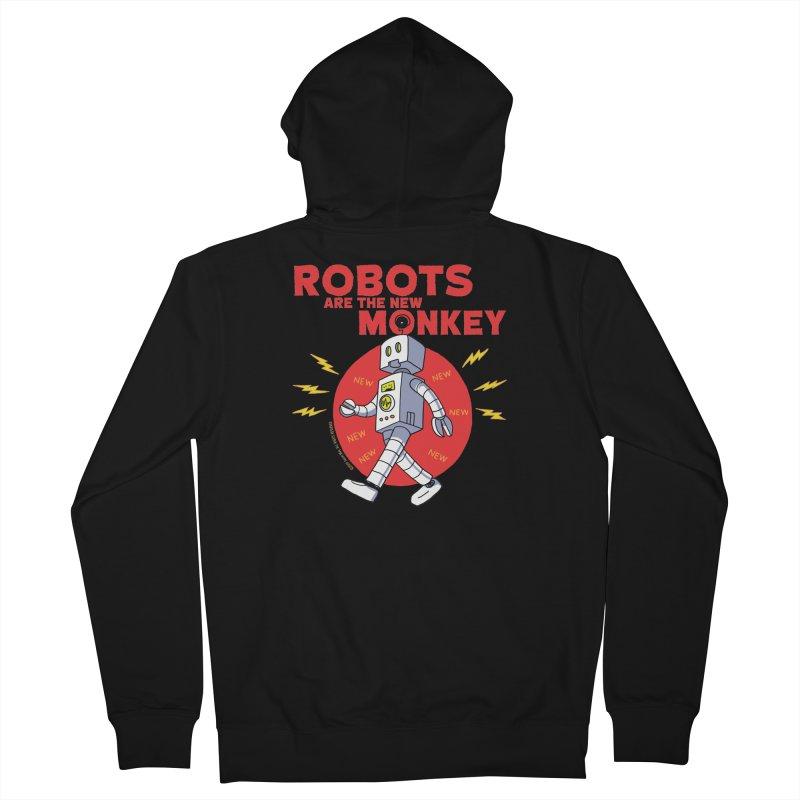 Robots Are The New Monkey! Women's Zip-Up Hoody by jasonmayart's Artist Shop