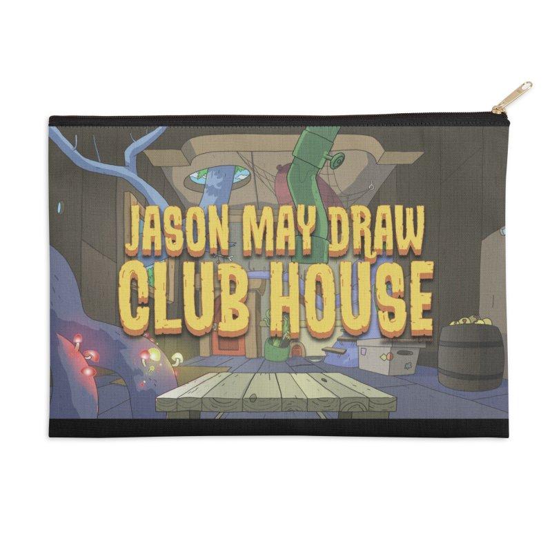 Jason May Draw Club House Logo T Accessories Zip Pouch by jasonmayart's Artist Shop