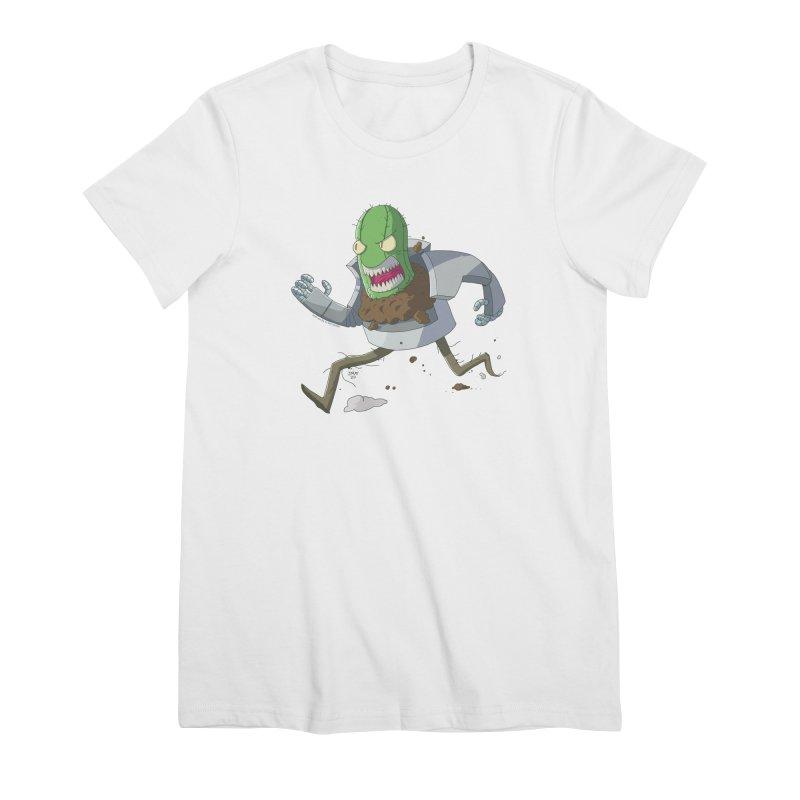When Houseplants Attack! - Attack Cactus Women's T-Shirt by jasonmayart's Artist Shop