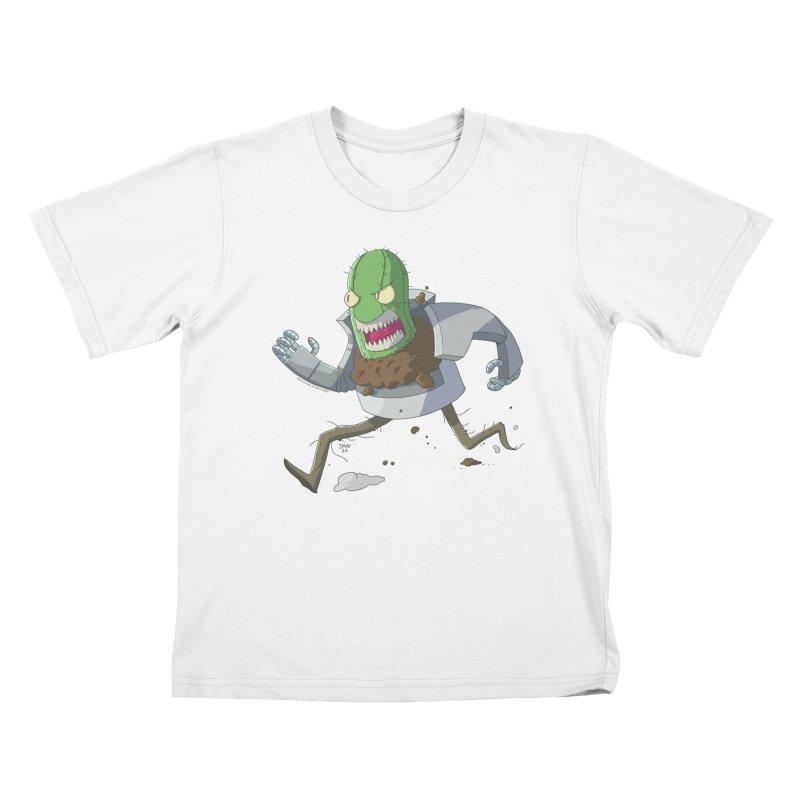 When Houseplants Attack! - Attack Cactus Kids T-Shirt by jasonmayart's Artist Shop