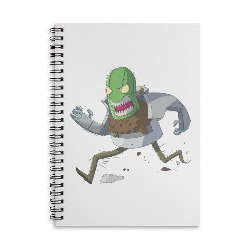 When Houseplants Attack! - Attack Cactus Accessories Notebook by jasonmayart's Artist Shop