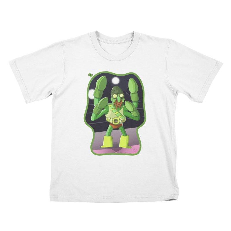 Crabby Cthulu Wrestler Kids T-Shirt by jasonmayart's Artist Shop