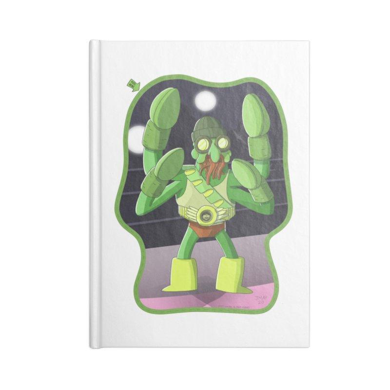 Crabby Cthulu Wrestler Accessories Notebook by jasonmayart's Artist Shop