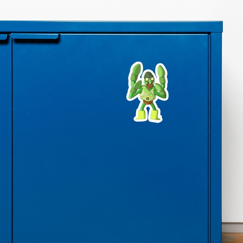 Crabby Cthulu Wrestler Accessories Magnet by jasonmayart's Artist Shop