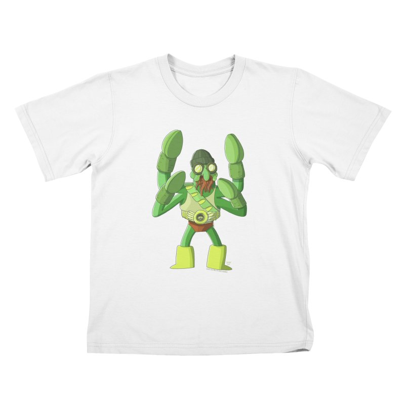Crabby Cthulu Wrestler Kids T-Shirt by jasonmayart's Artist Shop