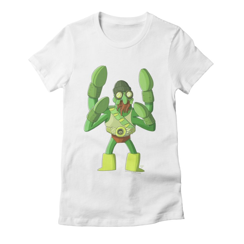 Crabby Cthulu Wrestler Women's T-Shirt by jasonmayart's Artist Shop