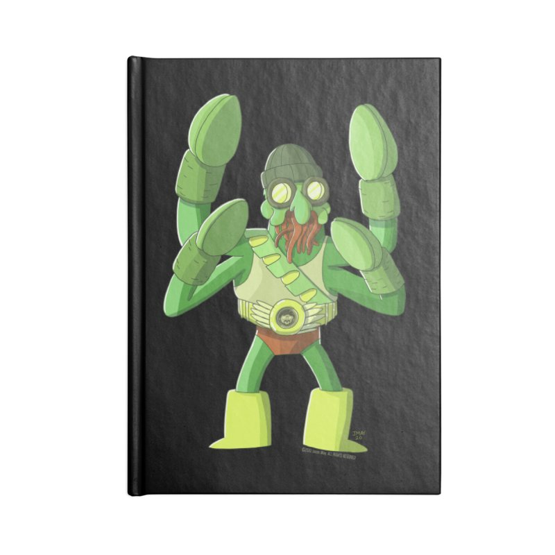 Crabby Cthulu Wrestler Accessories Notebook by jasonmayart's Artist Shop