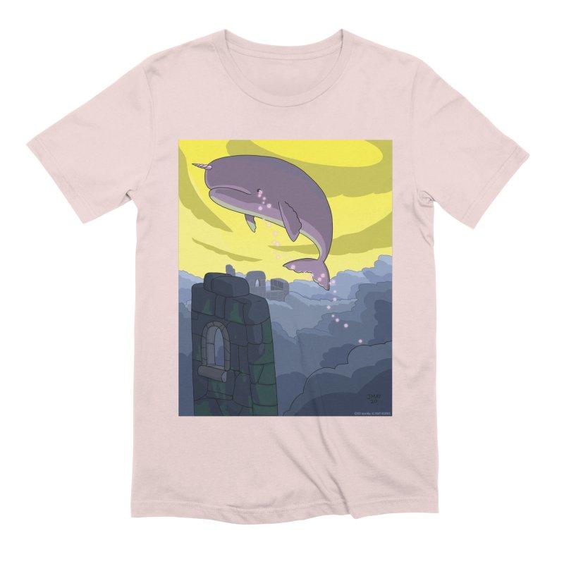 Enchanted Whale Crying Flowers Men's T-Shirt by jasonmayart's Artist Shop