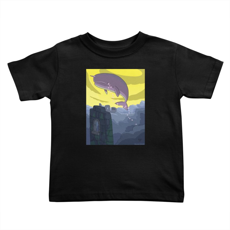 Enchanted Whale Crying Flowers Kids Toddler T-Shirt by jasonmayart's Artist Shop