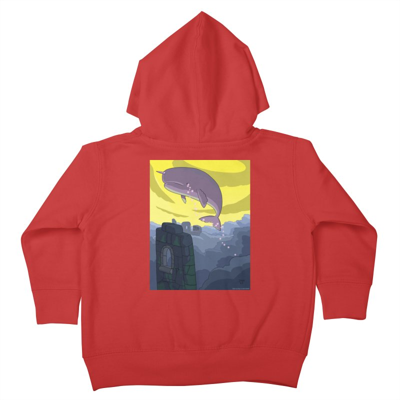 Enchanted Whale Crying Flowers Kids Toddler Zip-Up Hoody by jasonmayart's Artist Shop
