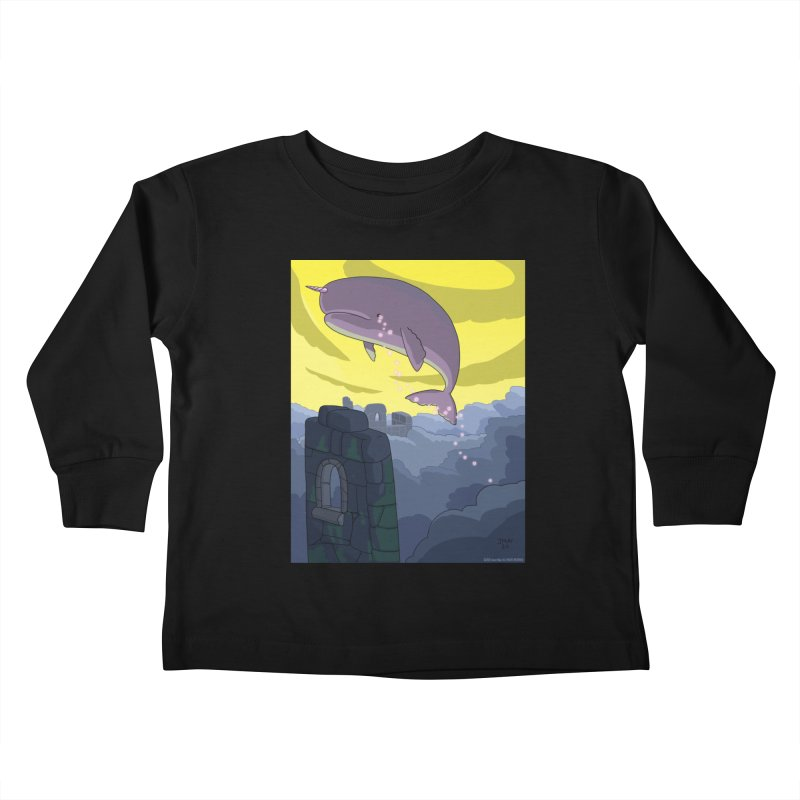 Enchanted Whale Crying Flowers Kids Toddler Longsleeve T-Shirt by jasonmayart's Artist Shop