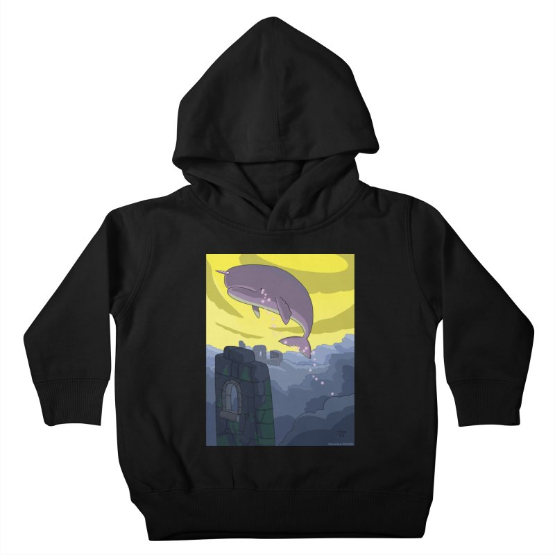 Enchanted Whale Crying Flowers Kids Toddler Pullover Hoody by jasonmayart's Artist Shop