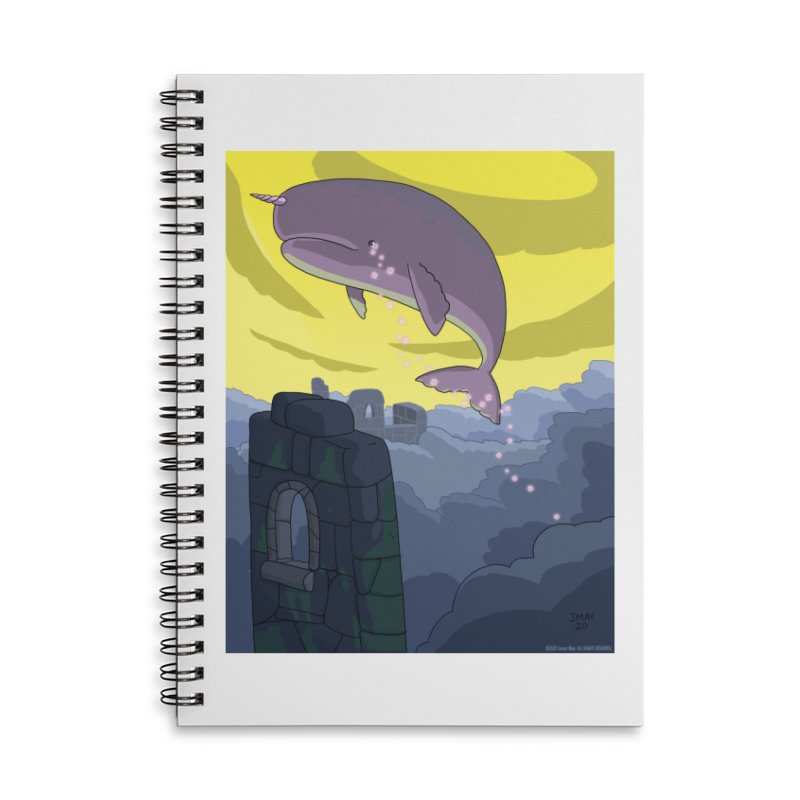 Enchanted Whale Crying Flowers Accessories Notebook by jasonmayart's Artist Shop
