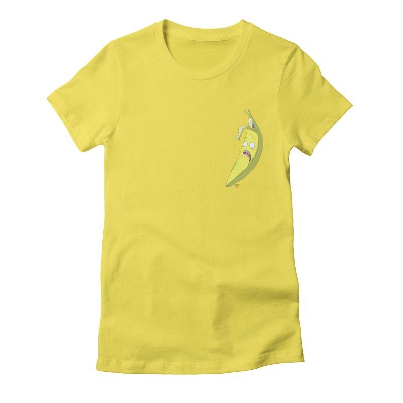 Frightened Banana Women's T-Shirt by jasonmayart's Artist Shop
