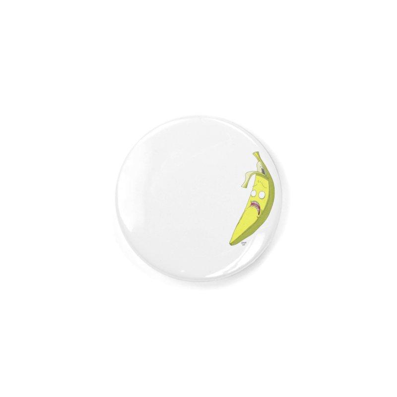 Frightened Banana Accessories Button by jasonmayart's Artist Shop