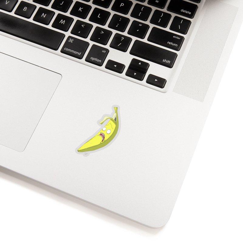 Frightened Banana Accessories Sticker by jasonmayart's Artist Shop