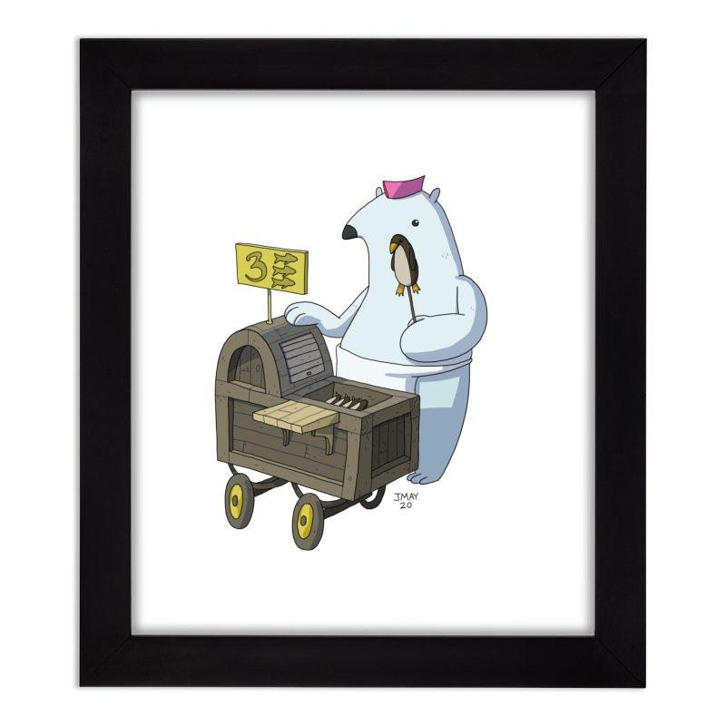 Bob's Penguin Pops! - Ice Ice Maybe Home Framed Fine Art Print by jasonmayart's Artist Shop