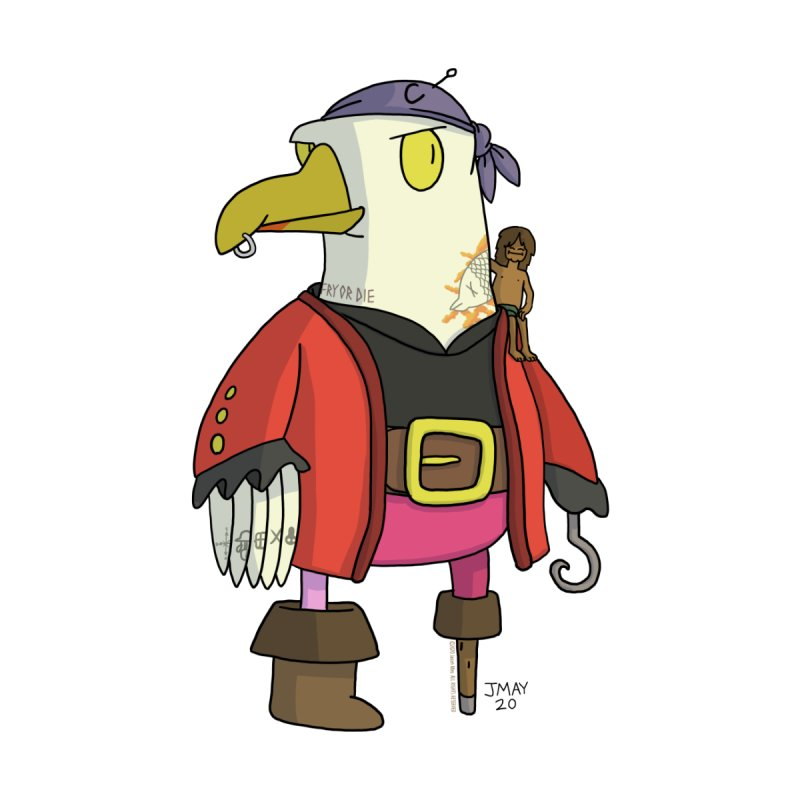 Swashbuckling Seagull Accessories Sticker by jasonmayart's Artist Shop
