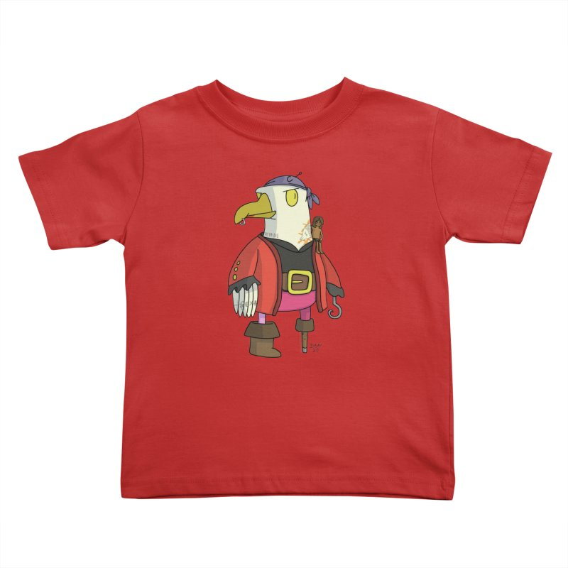 Swashbuckling Seagull Kids Toddler T-Shirt by jasonmayart's Artist Shop