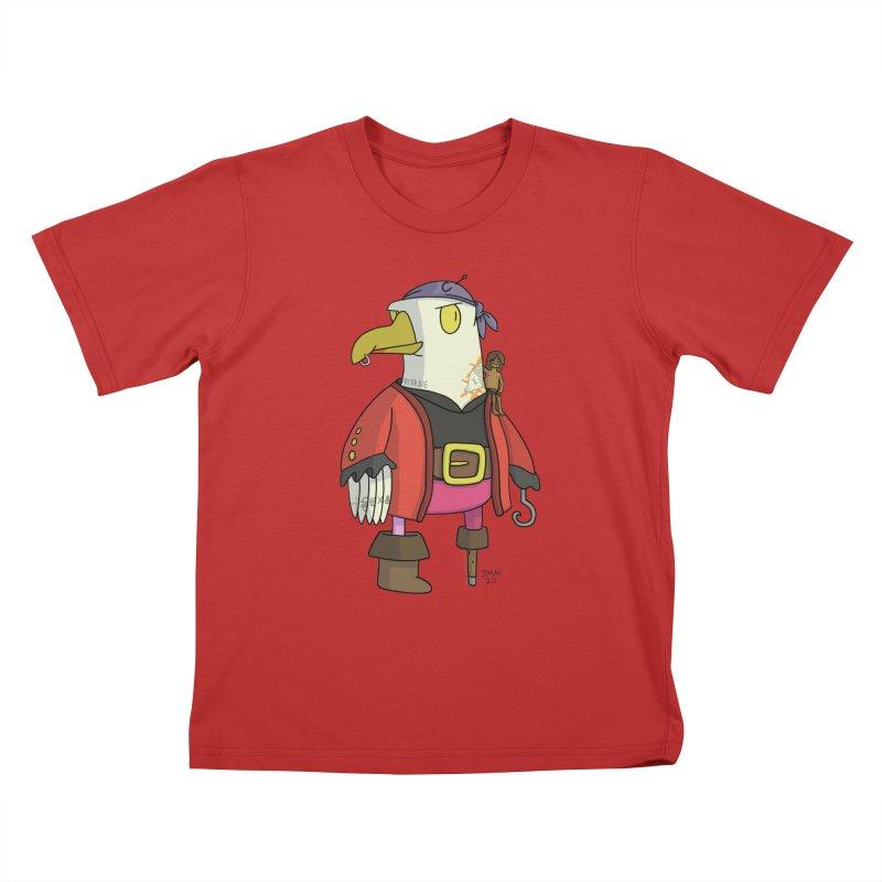 Swashbuckling Seagull Kids T-Shirt by jasonmayart's Artist Shop
