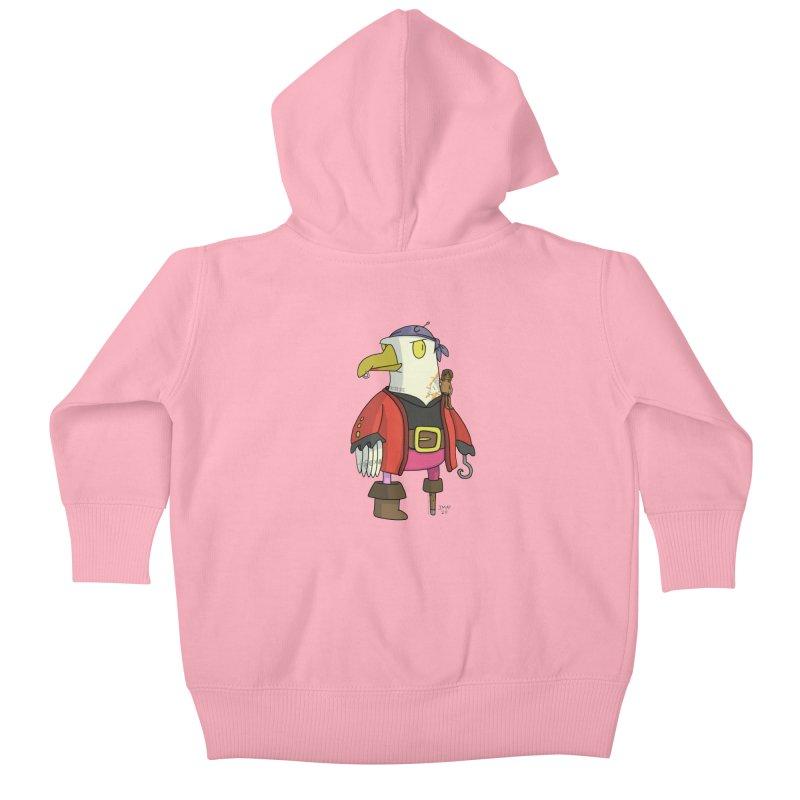 Swashbuckling Seagull Kids Baby Zip-Up Hoody by jasonmayart's Artist Shop