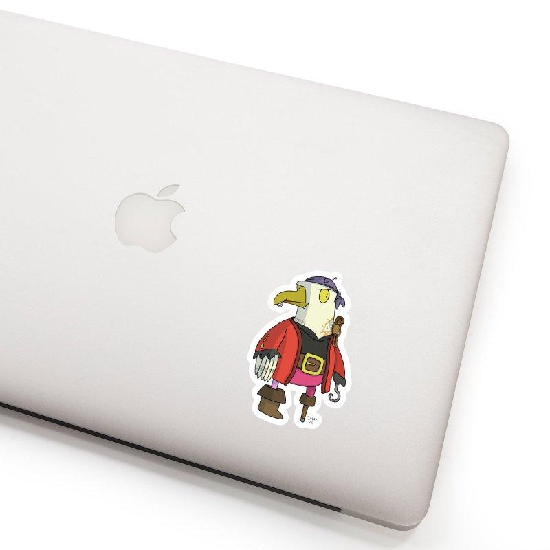 Swashbuckling Seagull Accessories Sticker by jasonmayart's Artist Shop