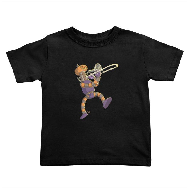 Trom-BONE Robot Kids Toddler T-Shirt by jasonmayart's Artist Shop
