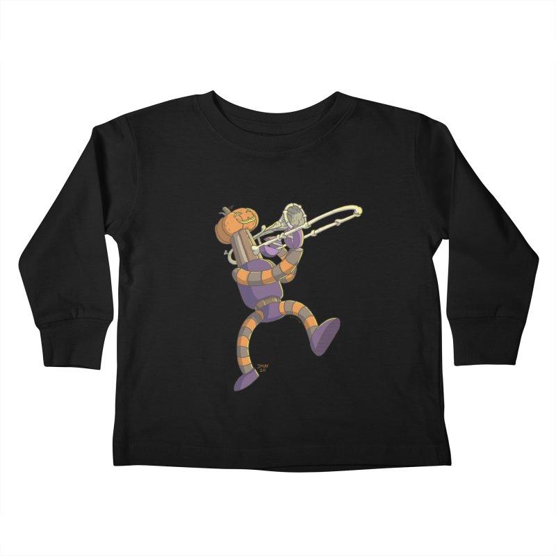Trom-BONE Robot Kids Toddler Longsleeve T-Shirt by jasonmayart's Artist Shop