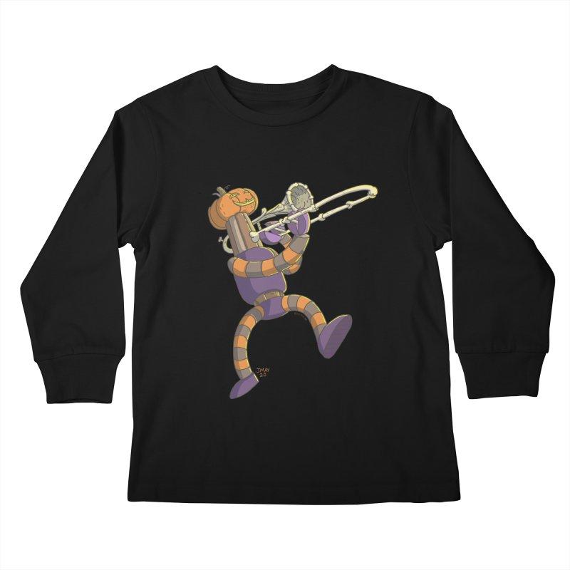 Trom-BONE Robot Kids Longsleeve T-Shirt by jasonmayart's Artist Shop