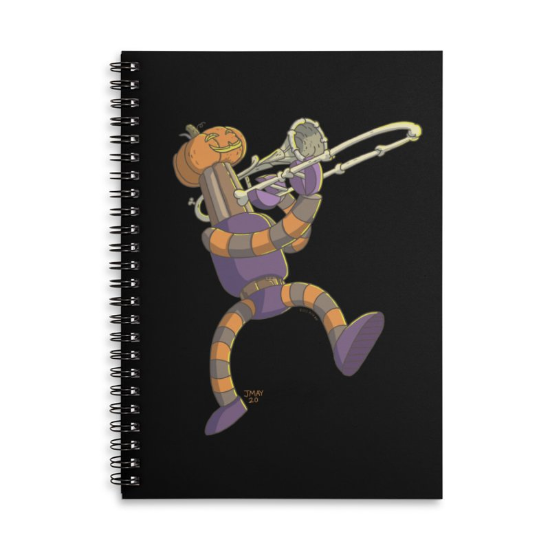 Trom-BONE Robot Accessories Notebook by jasonmayart's Artist Shop