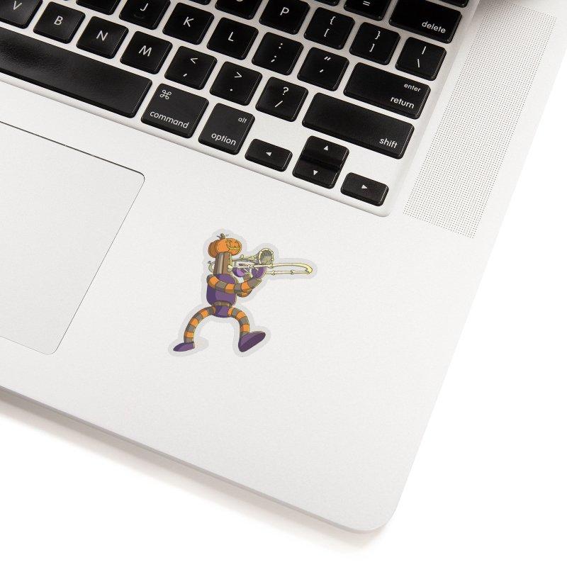 Trom-BONE Robot Accessories Sticker by jasonmayart's Artist Shop