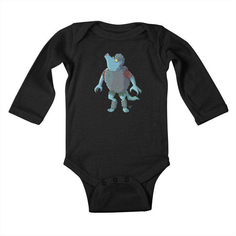 Werewolf in Sheep's Clothing Kids Baby Longsleeve Bodysuit by jasonmayart's Artist Shop