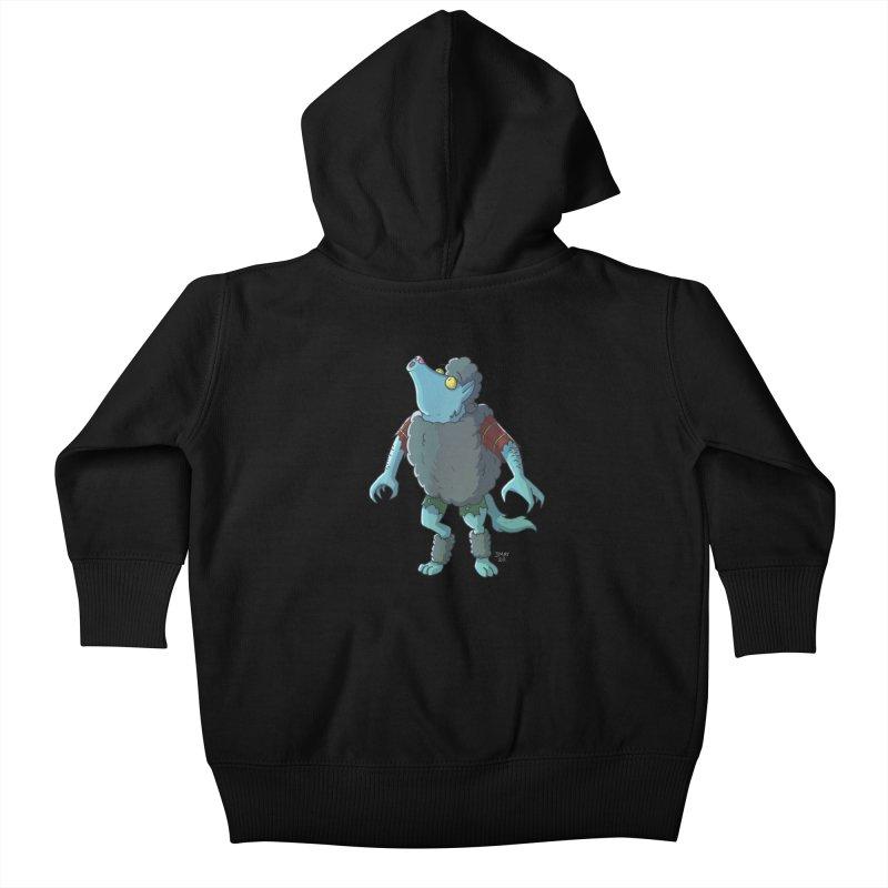 Werewolf in Sheep's Clothing Kids Baby Zip-Up Hoody by jasonmayart's Artist Shop
