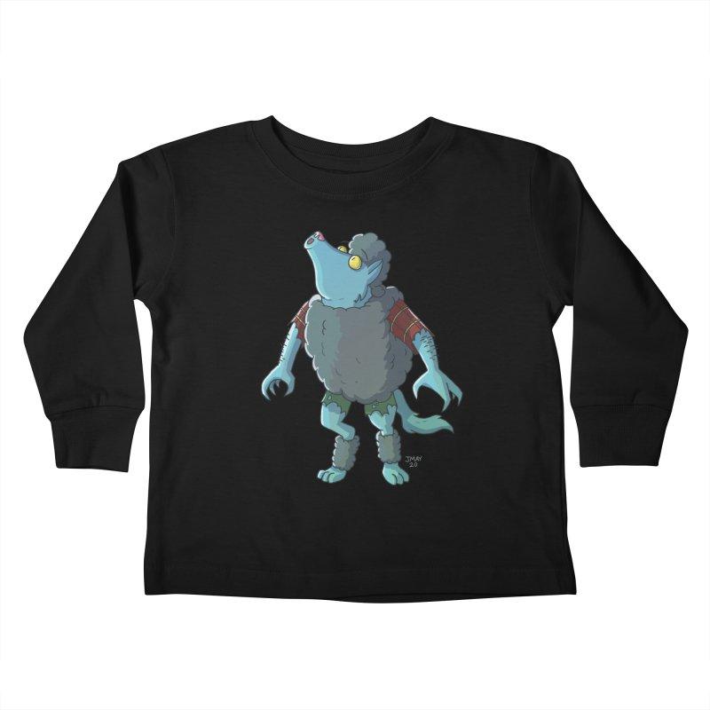 Werewolf in Sheep's Clothing Kids Toddler Longsleeve T-Shirt by jasonmayart's Artist Shop