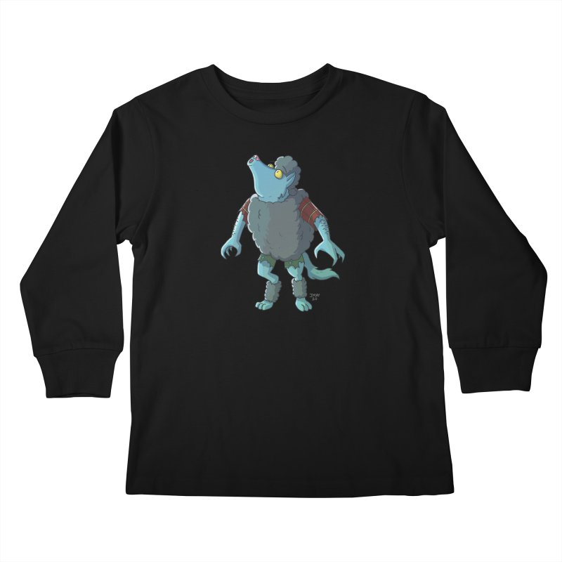 Werewolf in Sheep's Clothing Kids Longsleeve T-Shirt by jasonmayart's Artist Shop