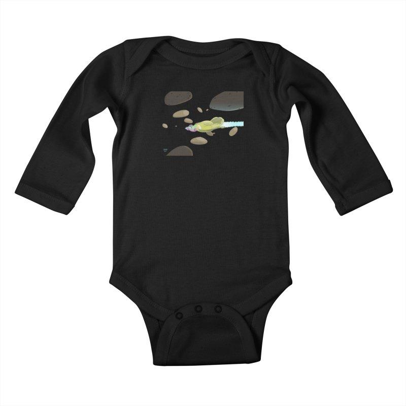 Turkey Rocket Kids Baby Longsleeve Bodysuit by jasonmayart's Artist Shop