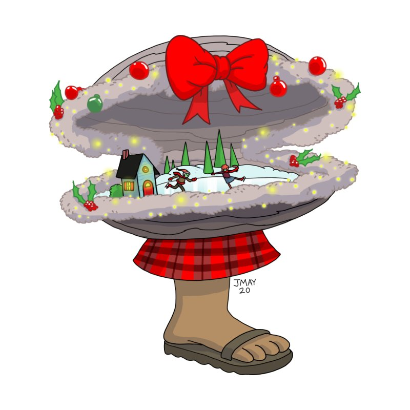 Valvie The Christmas Clam Accessories Sticker by jasonmayart's Artist Shop