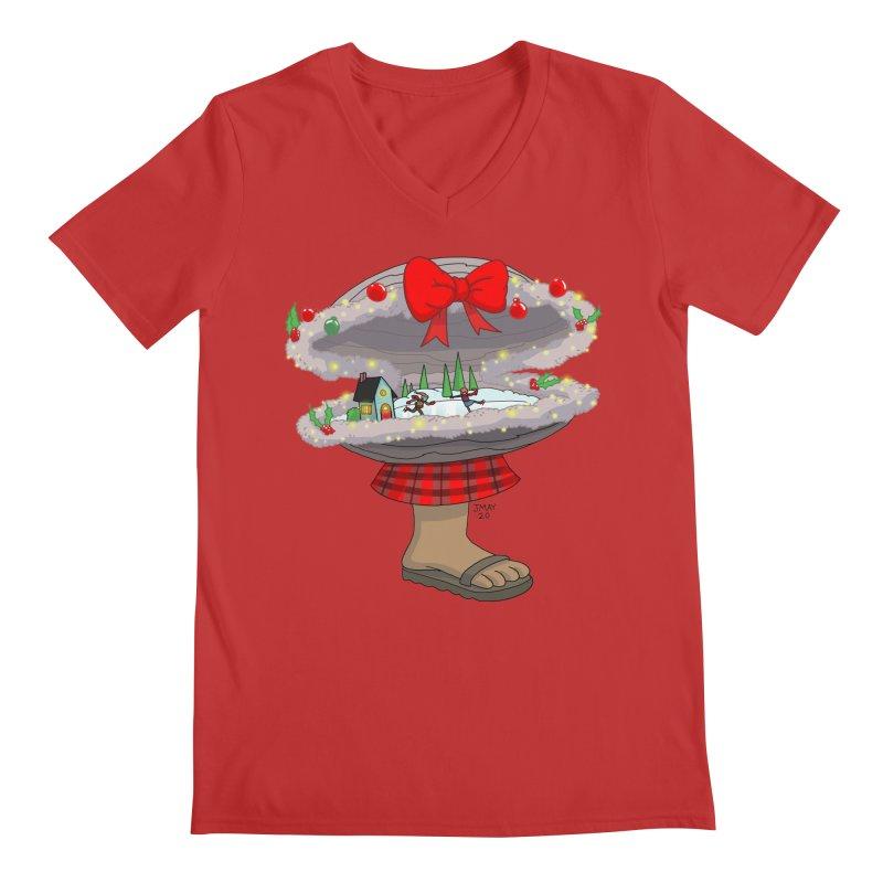 Valvie The Christmas Clam Men's V-Neck by jasonmayart's Artist Shop
