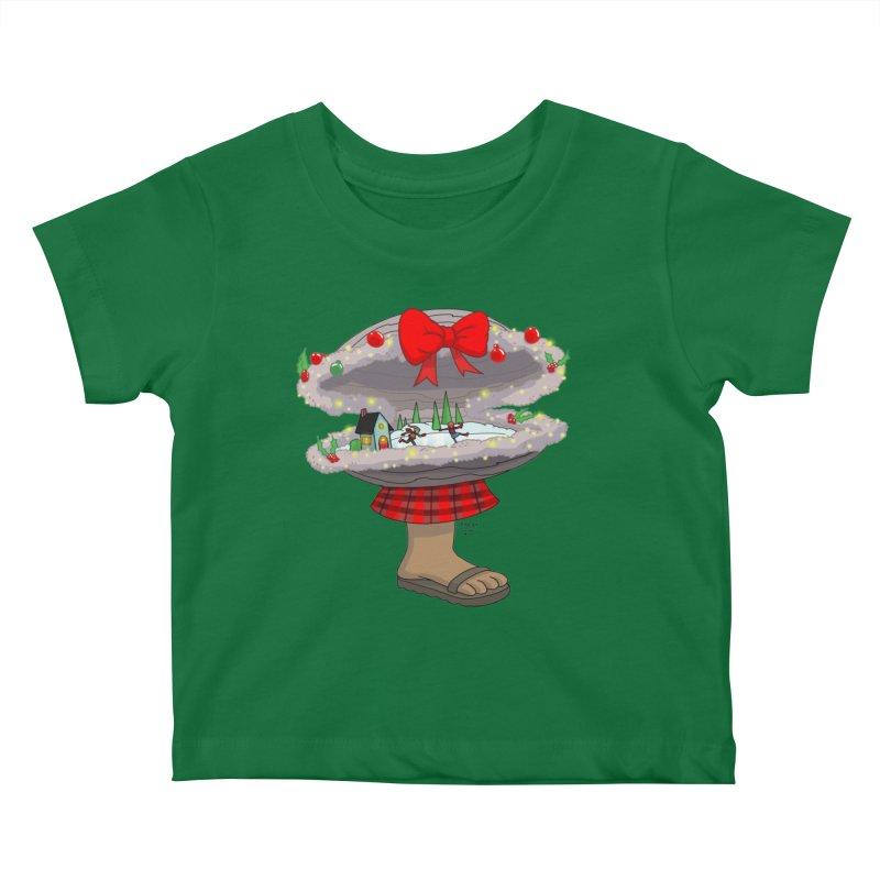 Valvie The Christmas Clam Kids Baby T-Shirt by jasonmayart's Artist Shop