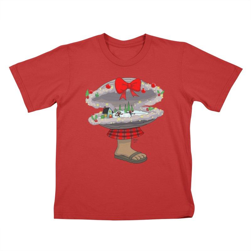 Valvie The Christmas Clam Kids T-Shirt by jasonmayart's Artist Shop