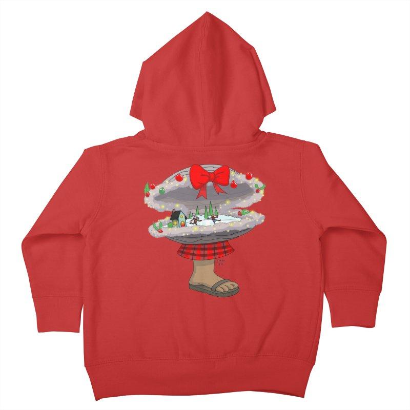 Valvie The Christmas Clam Kids Toddler Zip-Up Hoody by jasonmayart's Artist Shop
