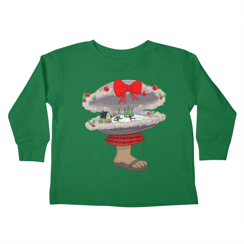 Valvie The Christmas Clam Kids Toddler Longsleeve T-Shirt by jasonmayart's Artist Shop