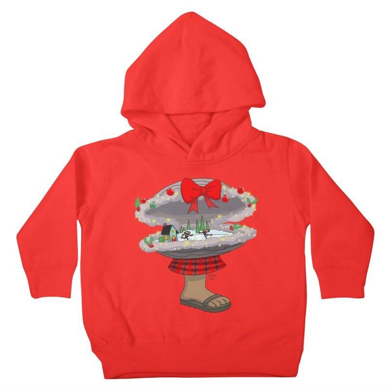 Valvie The Christmas Clam Kids Toddler Pullover Hoody by jasonmayart's Artist Shop