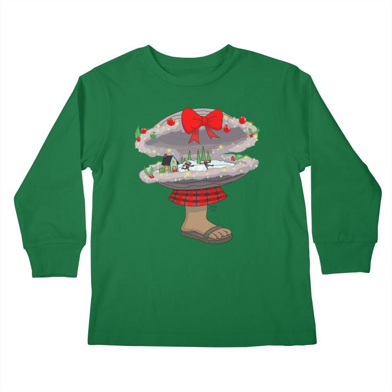 Valvie The Christmas Clam Kids Longsleeve T-Shirt by jasonmayart's Artist Shop