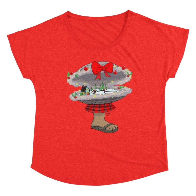 Valvie The Christmas Clam Women's Scoop Neck by jasonmayart's Artist Shop