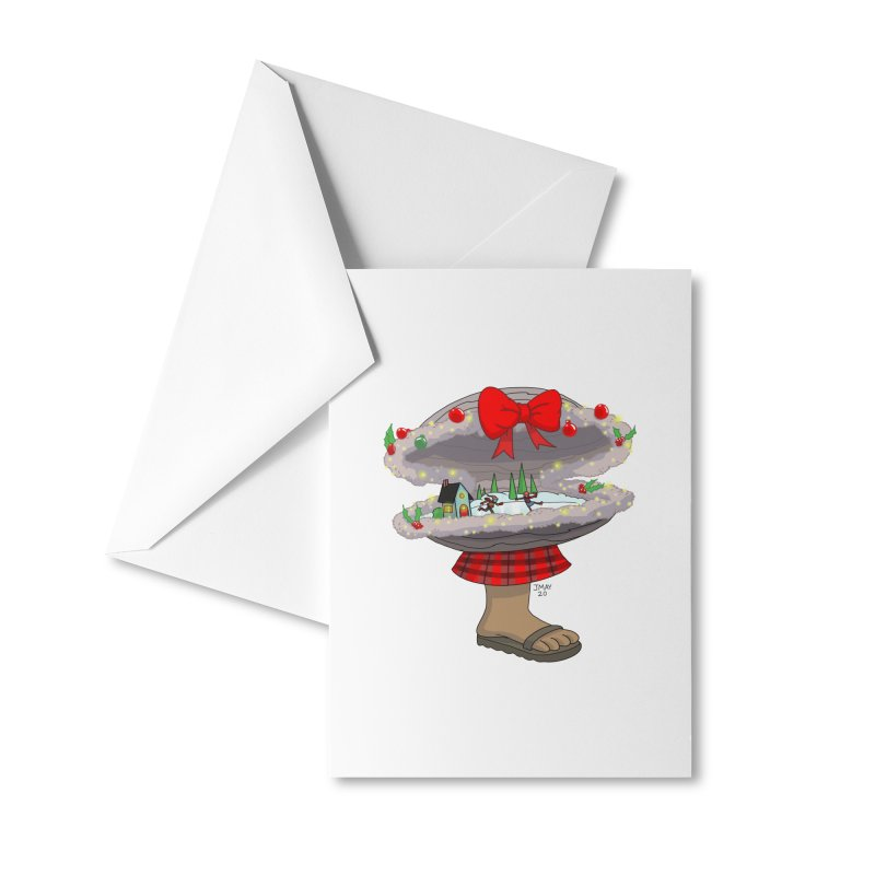 Valvie The Christmas Clam Accessories Greeting Card by jasonmayart's Artist Shop