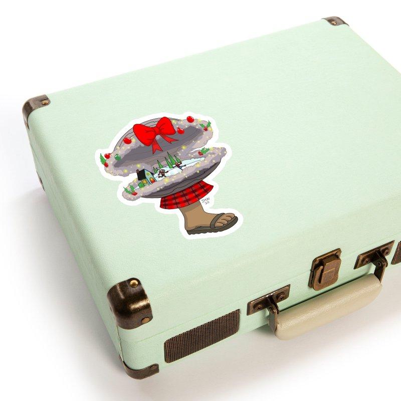 Valvie The Christmas Clam Accessories Sticker by jasonmayart's Artist Shop