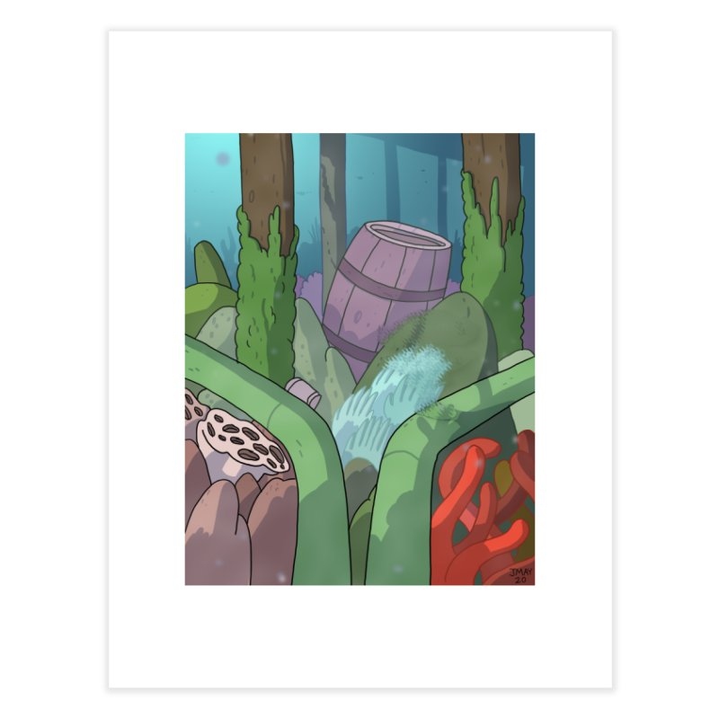 Valvie The Christmas Clam's Dock Home Fine Art Print by jasonmayart's Artist Shop