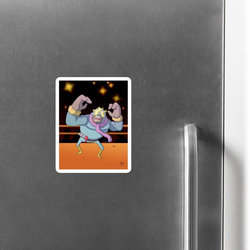 Potato Wrestler - Thanksgiving Accessories Magnet by jasonmayart's Artist Shop